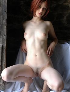 Sweet hairy pussy redhead Maida