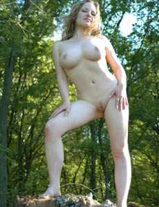Young busty blonde naturist Katusha