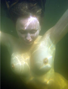 Young busty swimming girl Aneli