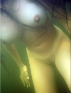 Young busty swimming girl Aneli