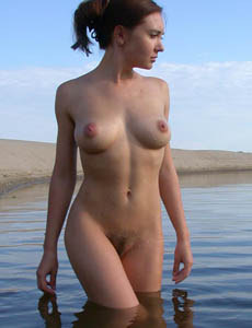 Hairy pussy nudist girl Britt
