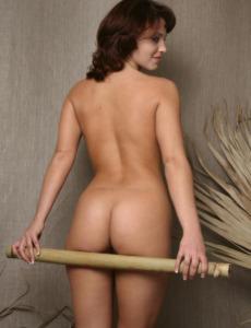 Nude puffy nipples Katia shows herself
