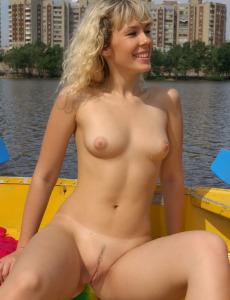 Sexy puffy nipples Katiara in the boat